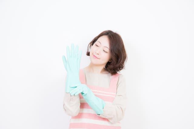 ビニールの手袋