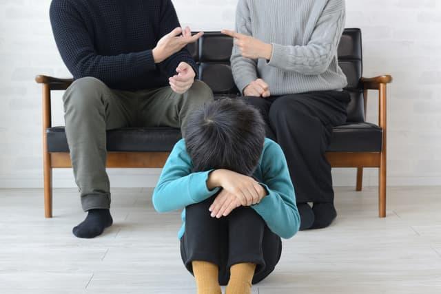 シングル家庭の幼児
