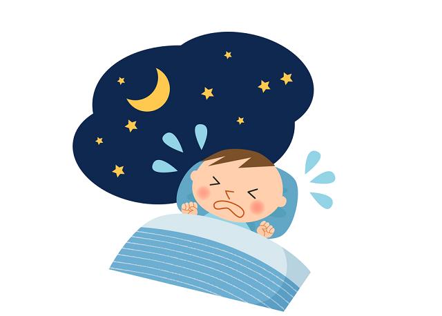 赤ちゃんの寝言泣き
