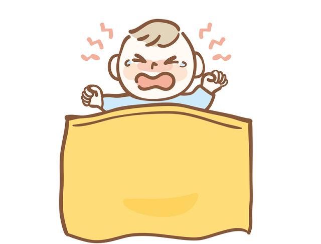 寝起きの赤ちゃん