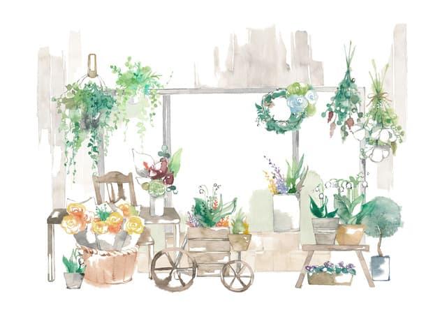 かわいい花屋
