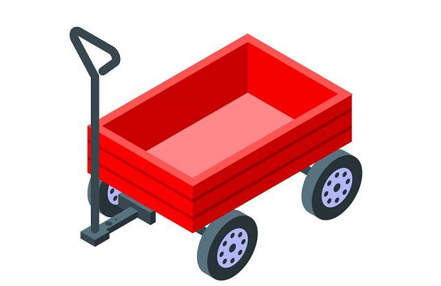 赤いキャリーカート